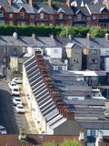 Terraced Housing. 3. Terraced Housing in Londonderry, Northern Ireland Stock Photo