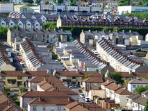 Terraced Housing. 4. Terraced Housing in Londonderry, Northern Ireland Stock Images