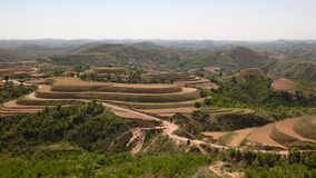 Terraced land in north Royalty Free Stock Photography