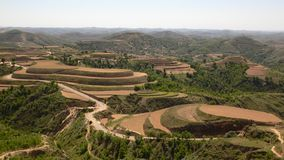 Terraced land in north Stock Image