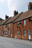 Terraced Red Brick Houses stock photography