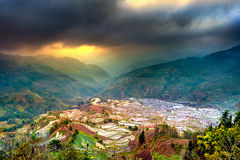Terraced rice fields in Yuanyang. Stock Photos