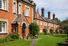Terraced row of Historic  English Almshouses Royalty Free Stock Image