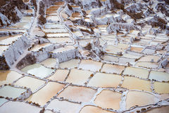 Terraced salt basins on the Peruvian Andes Stock Photos