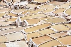 Terraced salt pans Stock Image