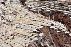 Terraced salt pans Stock Photo