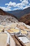 Terraced salt pans Stock Images