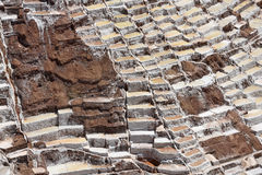 Terraced salt pans Royalty Free Stock Image
