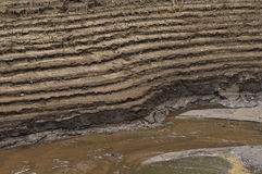 Terraced soil by river Royalty Free Stock Photography
