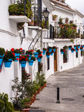Terraced White Houses in Andalucia Village, Spain Royalty Free Stock Photography