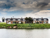 Terraced working-class houses in the Netherlands Royalty Free Stock Photography