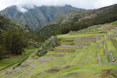 Terraces in Chinchero, Sacred Valley Peru. Royalty Free Stock Image