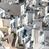 Terraces in Fira, Santorini Stock Image