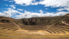 Terraces in the hills of Peru Stock Image