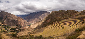 Terraces in the hills of Peru Royalty Free Stock Image