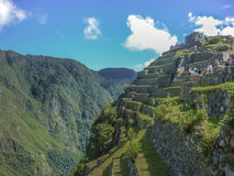 Terraces of Macchu Pichu City Royalty Free Stock Photos