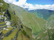 Terraces of Macchu Pichu City Royalty Free Stock Photography