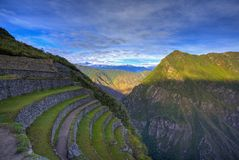 Terraces of Machu Picchu Royalty Free Stock Image