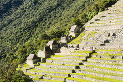 The terraces of Machu Picchu Stock Photography