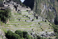 Terraces of Machu Picchu Royalty Free Stock Photography