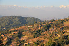 Terraces of Nagarkot Stock Photo