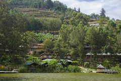 Terraces near Lake Bunyonyi Stock Image