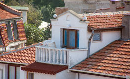 The terraces of the old town of Pomorie in Bulgaria Royalty Free Stock Photos