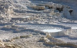 Terraces in Pamukkale Royalty Free Stock Images