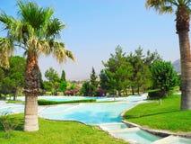Terraces of Pamukkale, Turkey. Royalty Free Stock Images