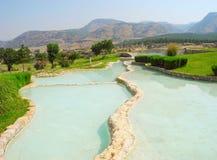 Terraces of Pamukkale, Turkey. Royalty Free Stock Photo