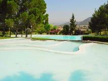 Terraces of Pamukkale, Turkey. Stock Photo