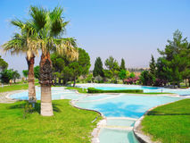 Terraces of Pamukkale, Turkey. Royalty Free Stock Photos