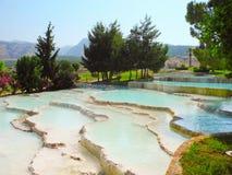 Terraces of Pamukkale, Turkey. Royalty Free Stock Image