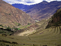 Terraces in the Peruvian Andes Stock Photos