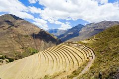 Terraces at Pisac ruins Stock Photos