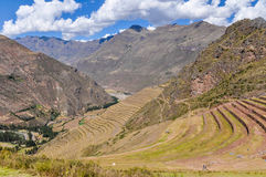 The terraces of Pisac, Sacred Valley, Peru Royalty Free Stock Images