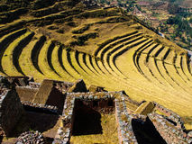 Terraces of Pisac Stock Photo