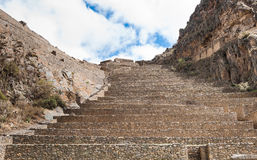 Terraces of Pisac in Urubamba valley near Cusco (Peru) Royalty Free Stock Photo