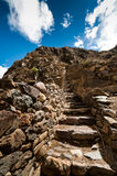 Terraces of Pisac in Urubamba valley near Cusco (Peru) Royalty Free Stock Photos