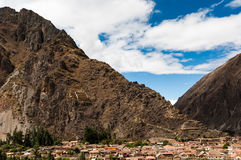 Terraces of Pisac in Urubamba valley near Cusco (Peru) Royalty Free Stock Photography