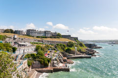 Terraces by the sea Stock Photography