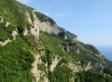Terraces at Sentiero degli  Dei Stock Photo
