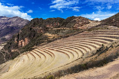 Terraces and village Stock Photography