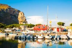 Terracina, πλατφόρμα του αδύτου Δία Anxur Στοκ Εικόνες