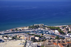 Terracina from above Royalty Free Stock Images