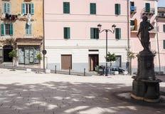 Terracina in Italy. Detail of Terracina high or ancient. Region Lazio, Italy Royalty Free Stock Photos