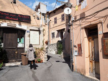 Terracina in Italy. Detail of Terracina high or ancient. Region Lazio, Italy Royalty Free Stock Photography