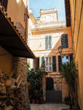 Terracina in Italy. Detail of Terracina high or ancient. Region Lazio, Italy Royalty Free Stock Photo