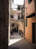 Terracina in Italy. Detail of Terracina high or ancient. Region Lazio, Italy Stock Image