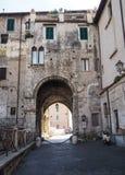 Terracina in Italy. Forum Emiliano in Terracina high or ancient. Region Lazio, Italy Royalty Free Stock Photography